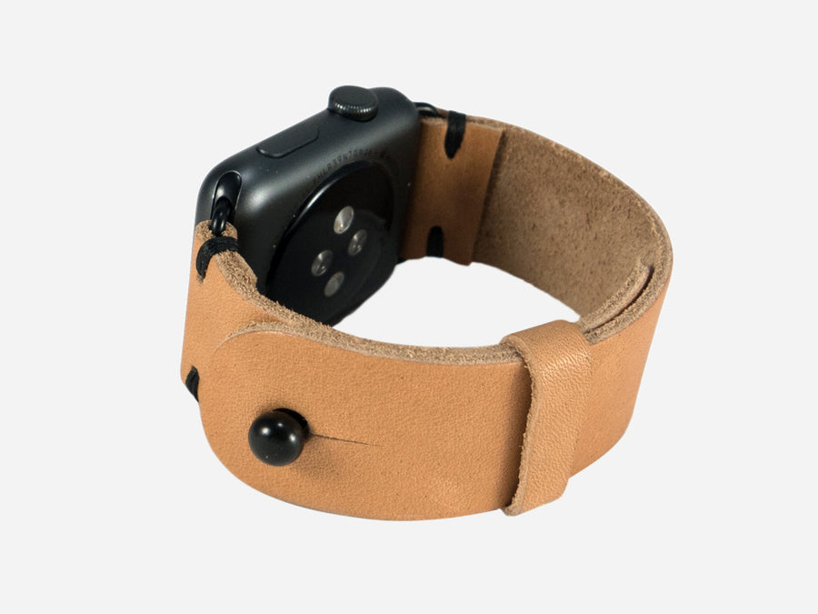 Two-Stitch Horween Natural Essex Apple Watch Band