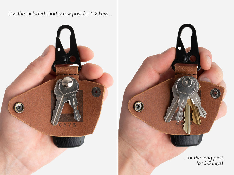 The Ultimate Keychain in Buck Brown