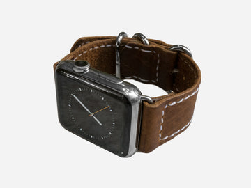 Walnut Bison Zulu Strap for Apple Watch
