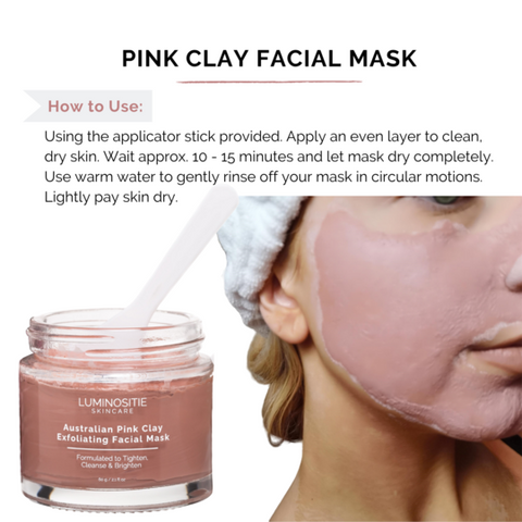 how to use pink clay mask
