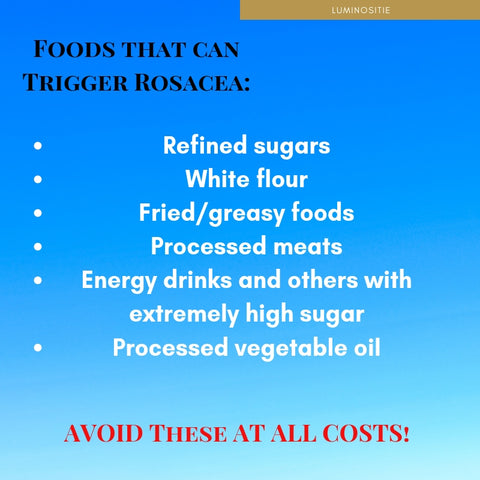foods that can trigger rosacea