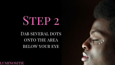 how to apply eye serum