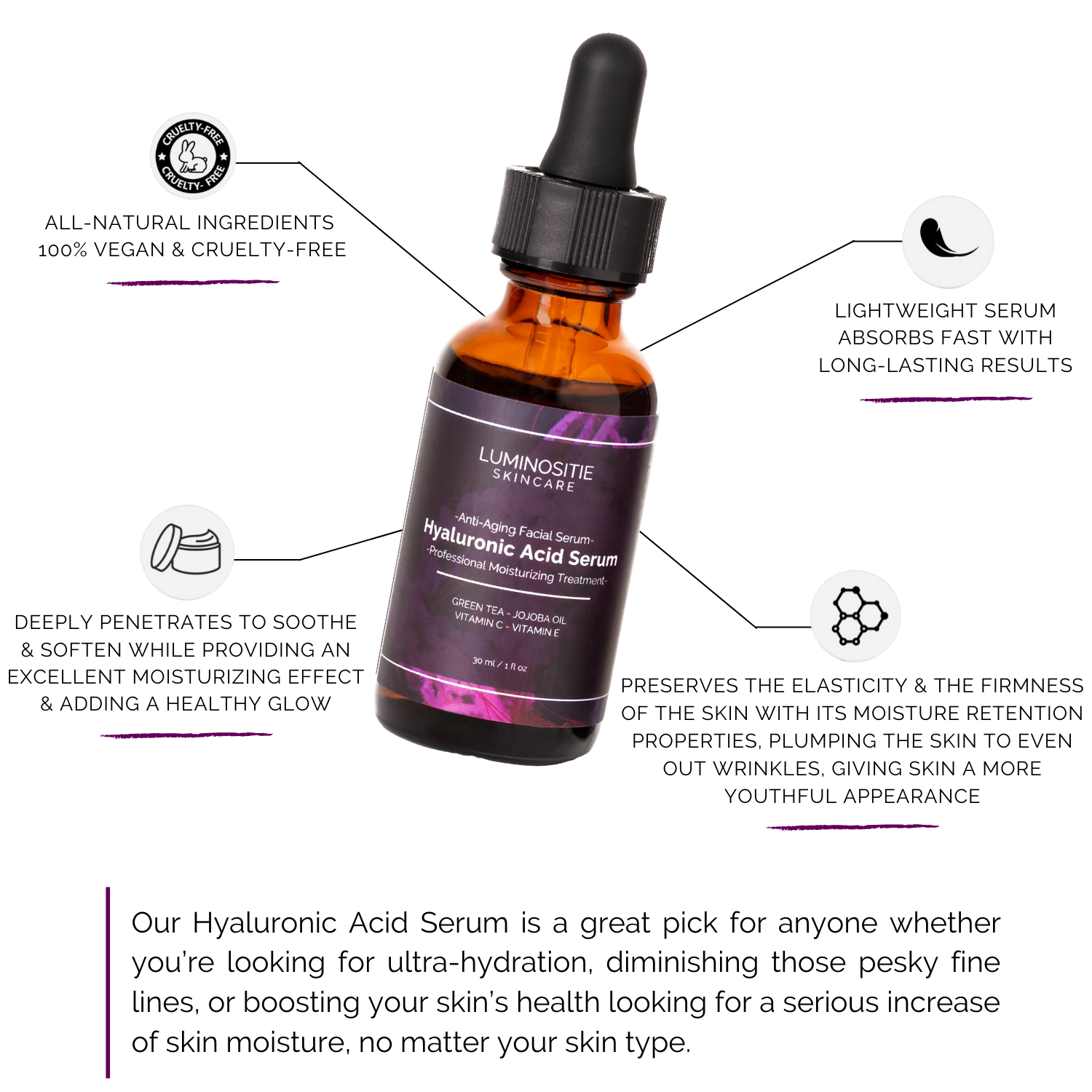 Hyaluronic Acid Serum - Luminositie