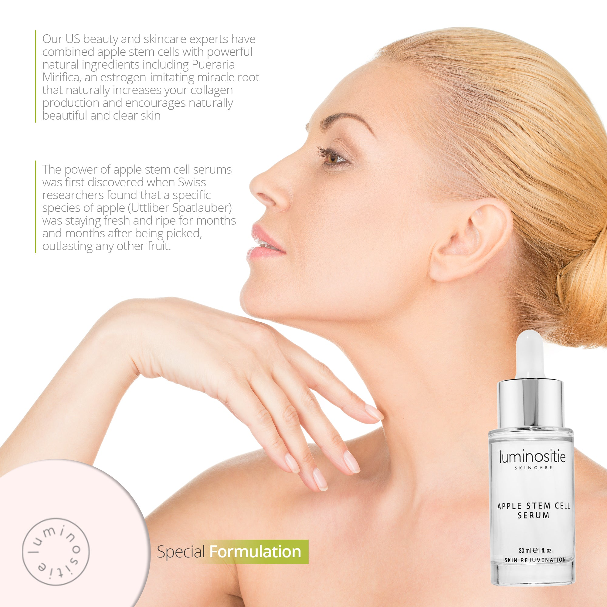 Swiss Apple Stem Cell Face Serum - Luminositie