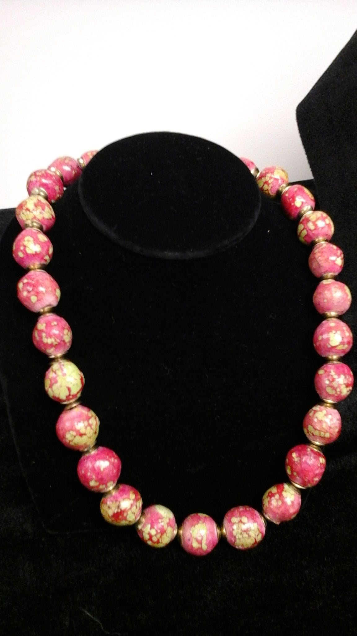 Hand made Clay bead necklace