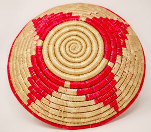 Red circular decorative Basket