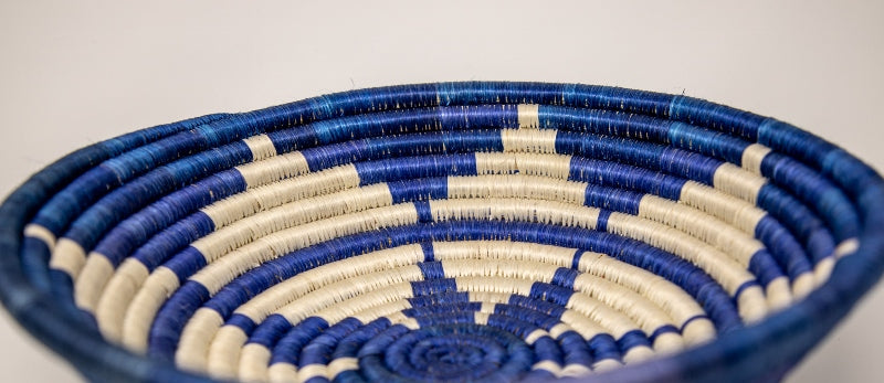 Blue Flower circular decorative Basket