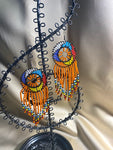 Beaded Earrings in Assorted colors - Orange