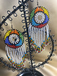 Beaded Earrings in Assorted colors - White