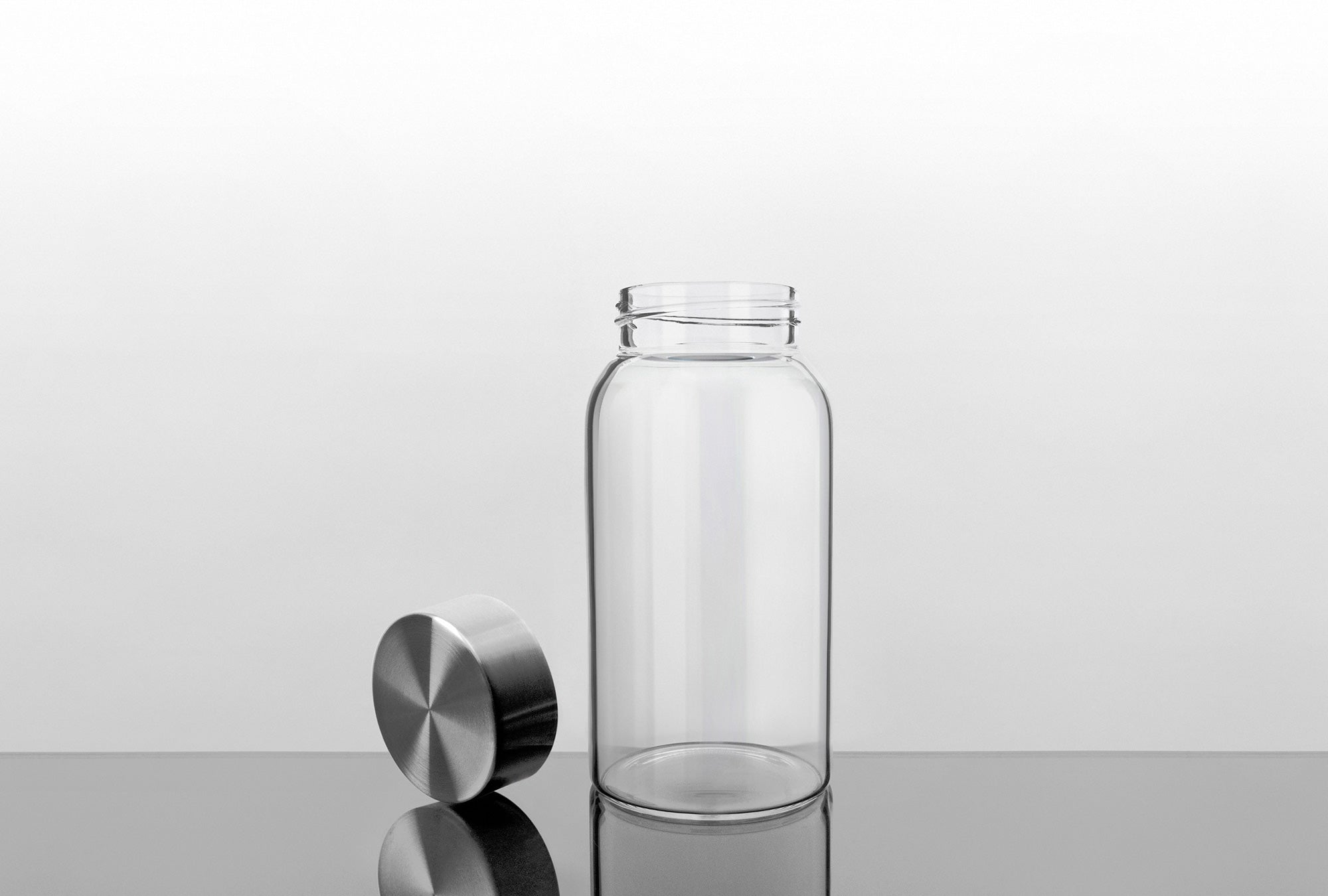 21 Oz Glass Water Bottle With Stainless Steel Cap 2nd Generation Kablo