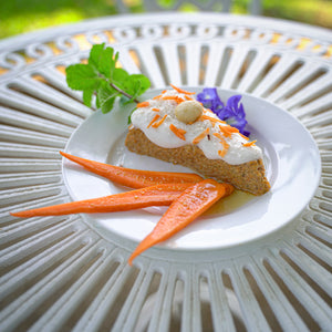 Raw Ginger Coconut Carrot Cake