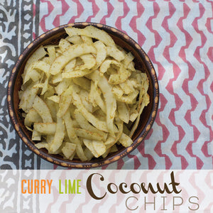 Curry and Lime Coconut Chips