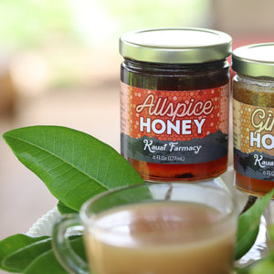Allspice honey spiced medicinal honey herbal tea