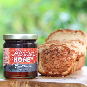 Allspice honey ulu bread spiced medicinal honey