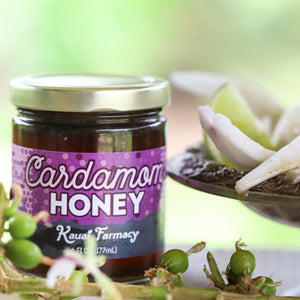 Cardamom honey spiced medicinal honey cardamom pods fresh grown flowers