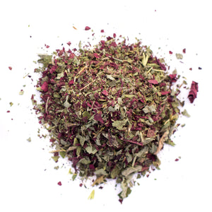 Kauai Farmacy children's wellness organic herbal tea detail tulsi lemon balm