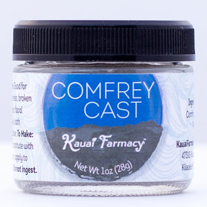 Kauai Farmacy comfrey root knit bone powder 1 oz jar
