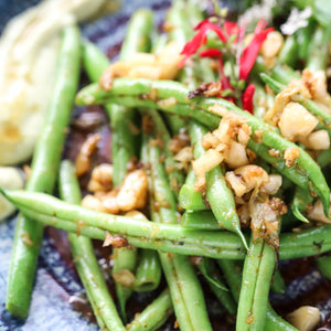 Ginger honey spiced medicinal green beans