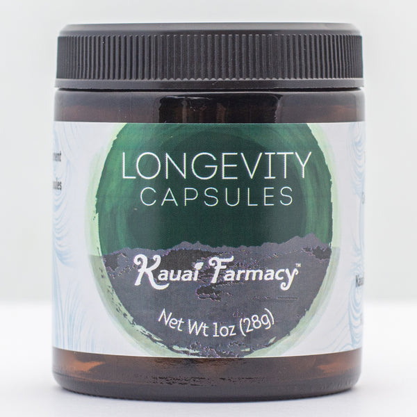 Longevity Turmeric noni cacao ginger soursop tulsi organic herbal supplement