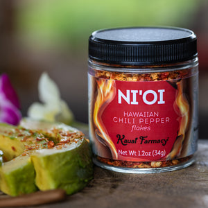 Ni'io Hawaiian Chili Pepper flakes Kauai Farmacy Avocada