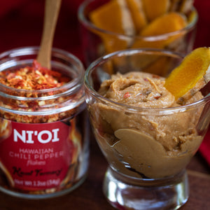 Ni'io Hawaiian Chili Pepper flakes Kauai Farmacy Peanut Butter Satay Turmeric