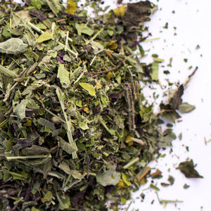 Kauai Farmacy tranquility organic herbal tea blend detail loose leaf  with lilikoi flower sleep tea