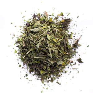 Kauai Farmacy tranquility organic herbal tea blend detail loose leaf