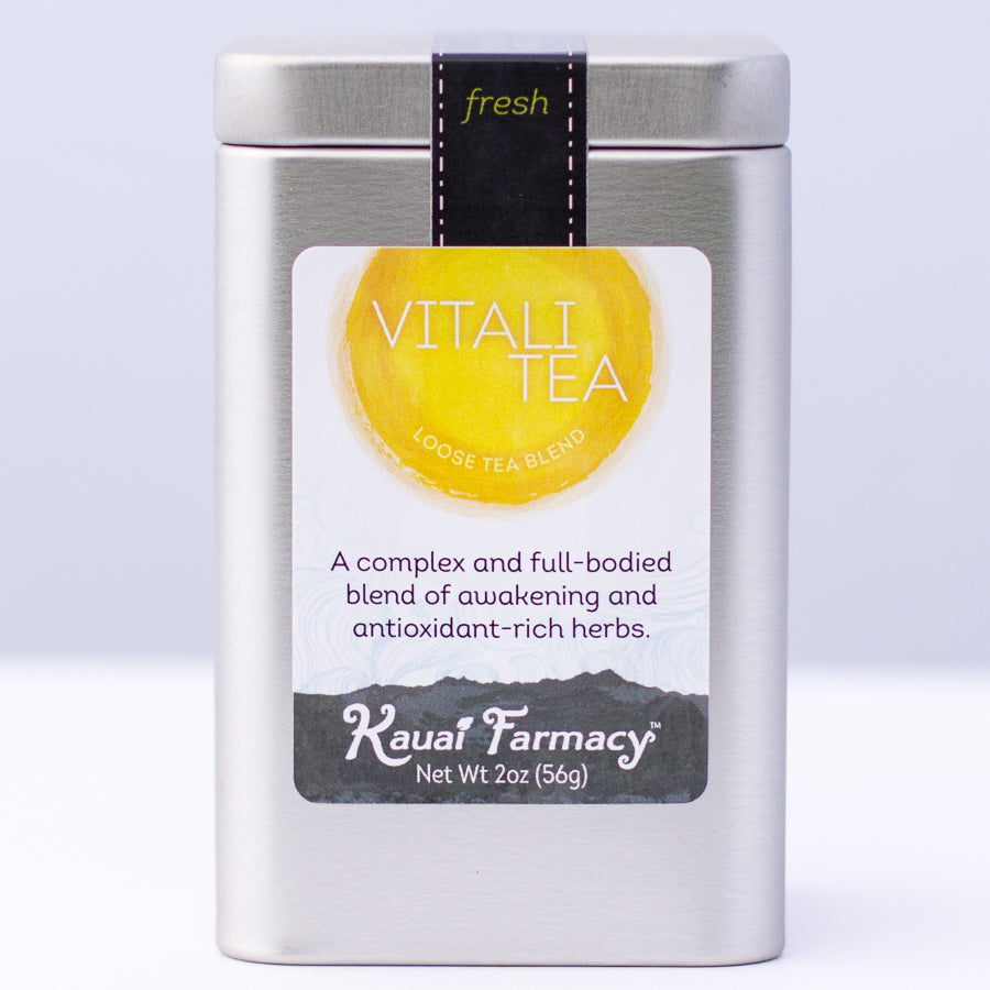 Longevity package. Vitalitea, Endurnace, Comfrey Salve, Stainless steel tea strainer