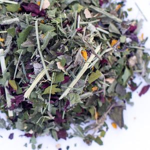 Kauai Farmacy women's wellness herbal tea blend loose leaf detail chaste Vitex agnus-castus