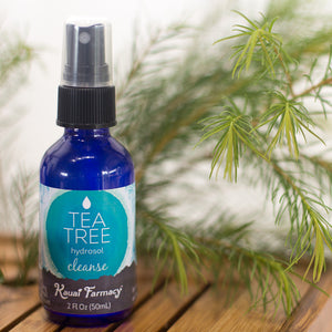 Kauai farmacy 2oz tea tree hydrosol melaleuca branch bamboo tray