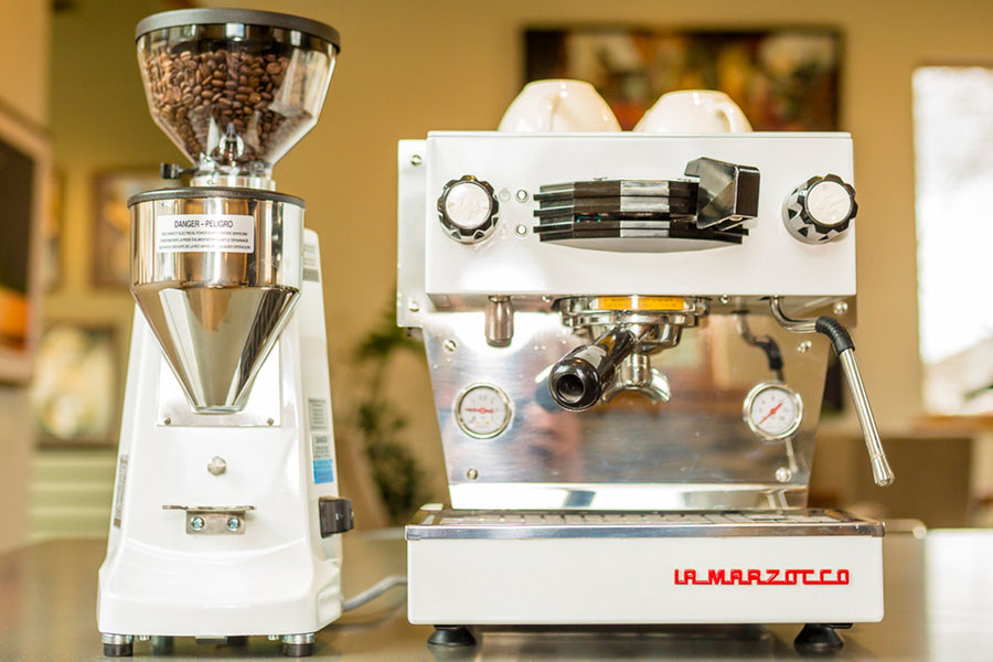 La Marzocco Linea Mini Espresso Machine - ADDITIONAL FREIGHT CHARGE AFTER CHECKOUT (item is espresso machine only, not pictured grinder)
