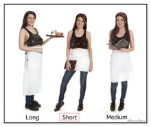Quality White Restaurant Apron • Short Bistro Length