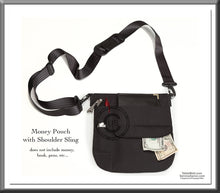 The Mini • Quality Black Money Pouch with Belt