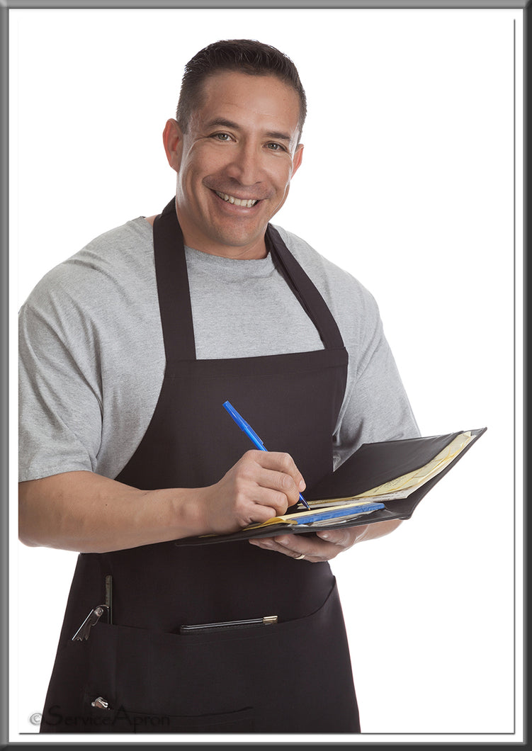 Quality Black Bib Restaurant Apron