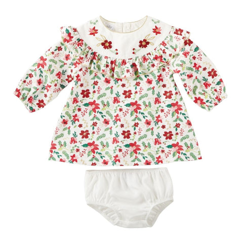 Merry Floral Corduroy Dress and Bloomer Set by Mud Pie
