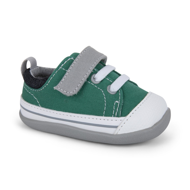 Stevie II Infant Shoe In Blue/Green by See Kai Run