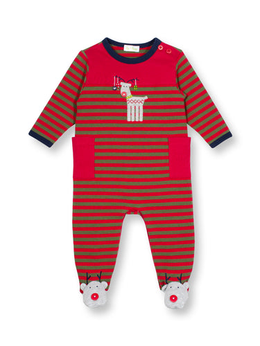 Three Reindeer Stripe Coverall