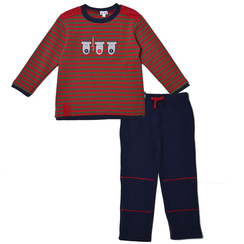 3 Reindeer Shirt & Pant Set