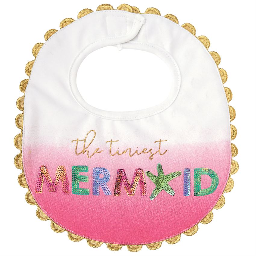 Mud Pie Mermaid Bib