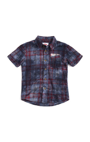 Mossman Shirt In Deep Water Pl