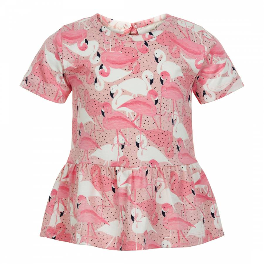 Flamingo Short Sleeve Top by Creamie