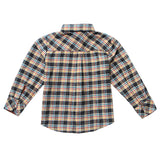 Long Sleeve Plaid Craftsman Flannel Roll-up Sleeve Shirt