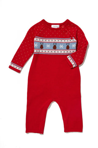 Intarsia Fair Isle Coverall - Reindeer by Angel Dear