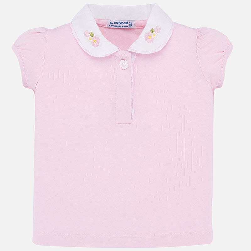 Short Sleeve Polo T-Shirt in Rose