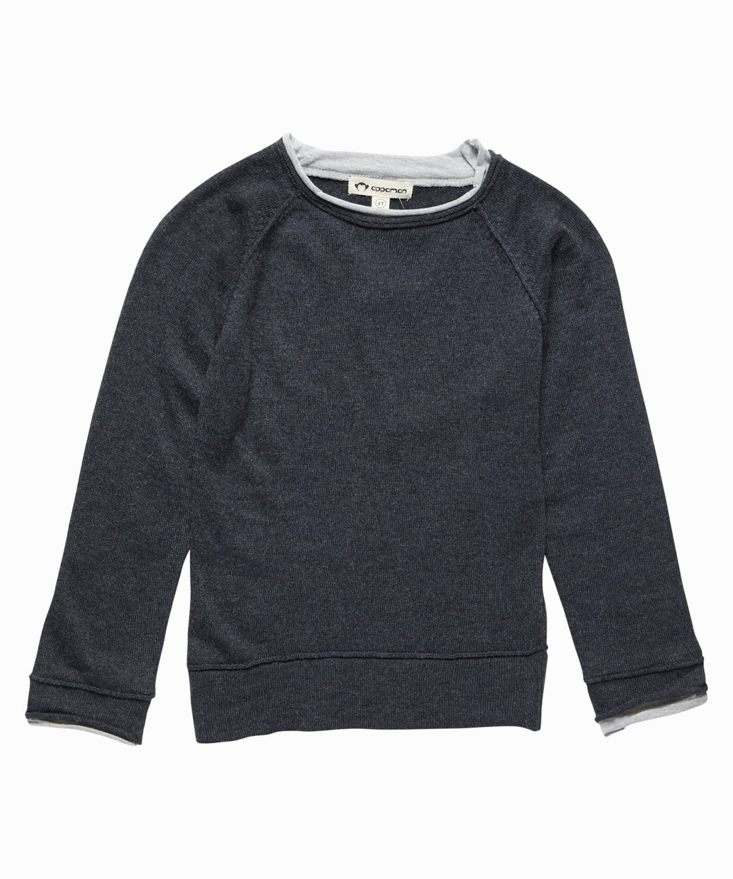 Jackson Roll Neck Sweater In Charcoal