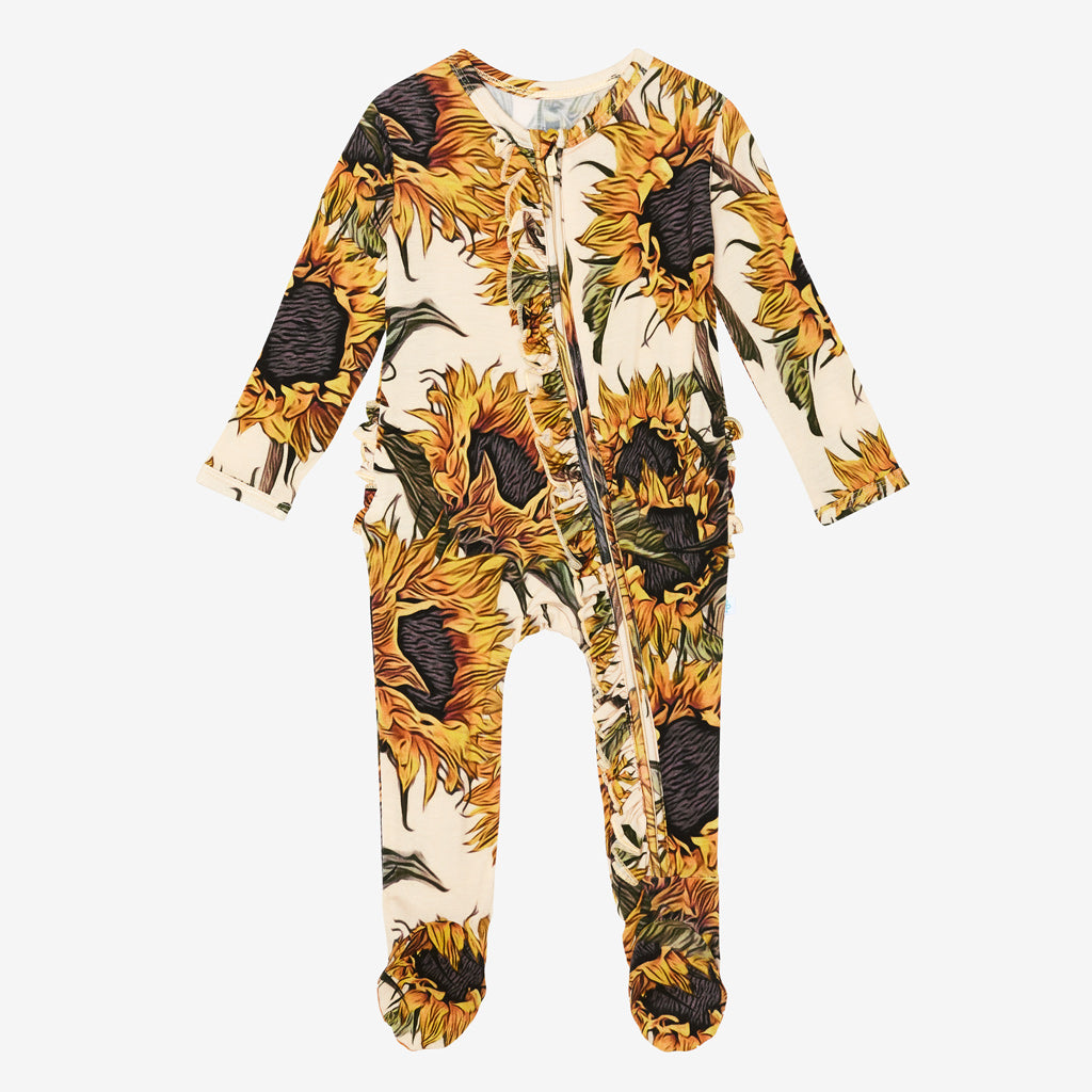 Posh Peanut Ruffled Zippered Footies