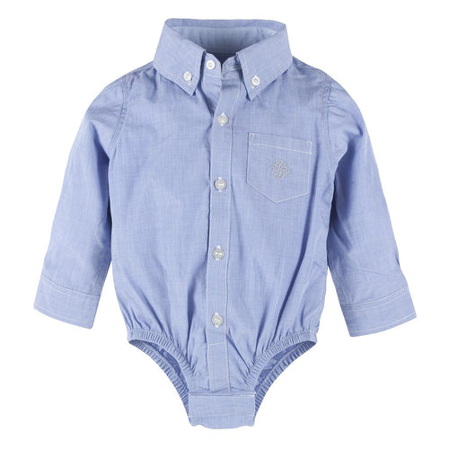 Blue Chambray Button Down Shirtzie