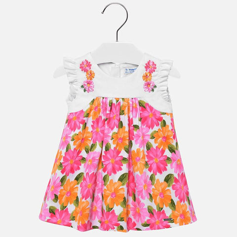 Daisy Dress for Baby Girl in Bubblegum Floral