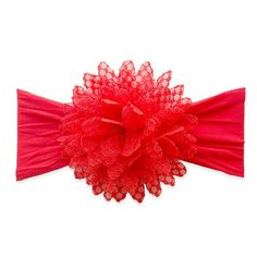 Fishnet Flower Headband by Baby Bling