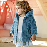 Girls Reversible Faux Fur Coat in Teal